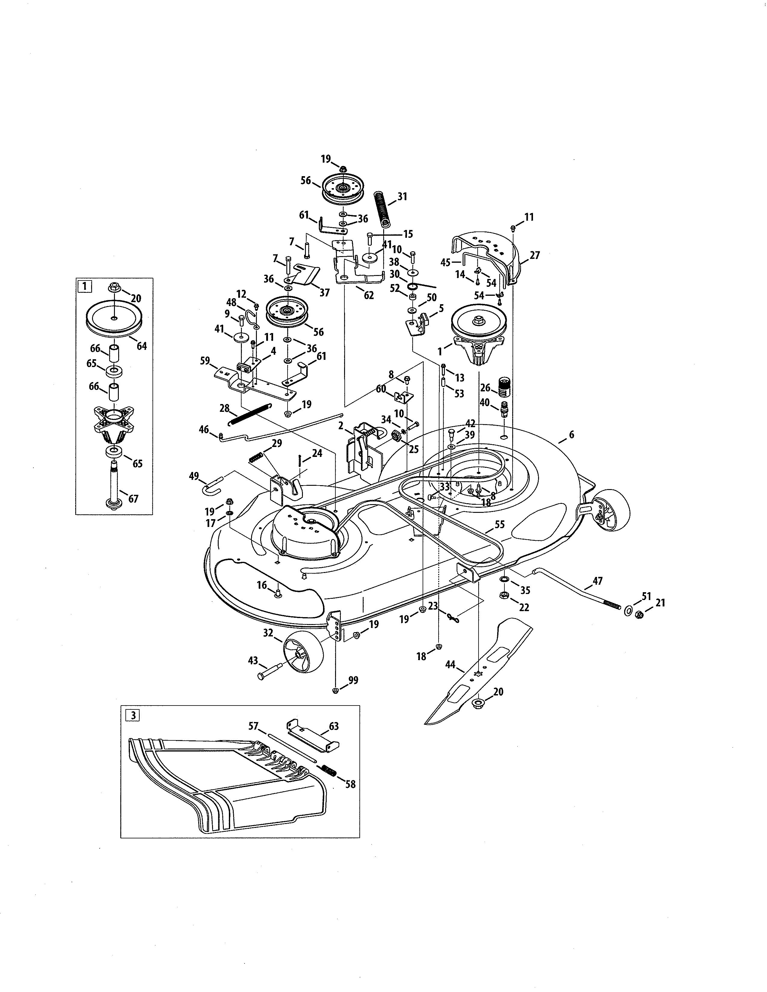 Craftsman lt2000 parts diagram